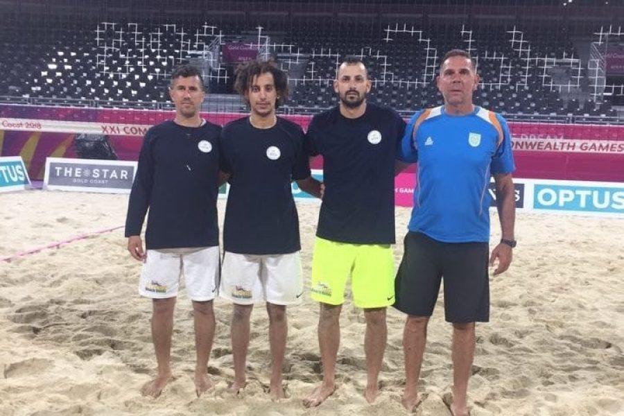 boys with coach